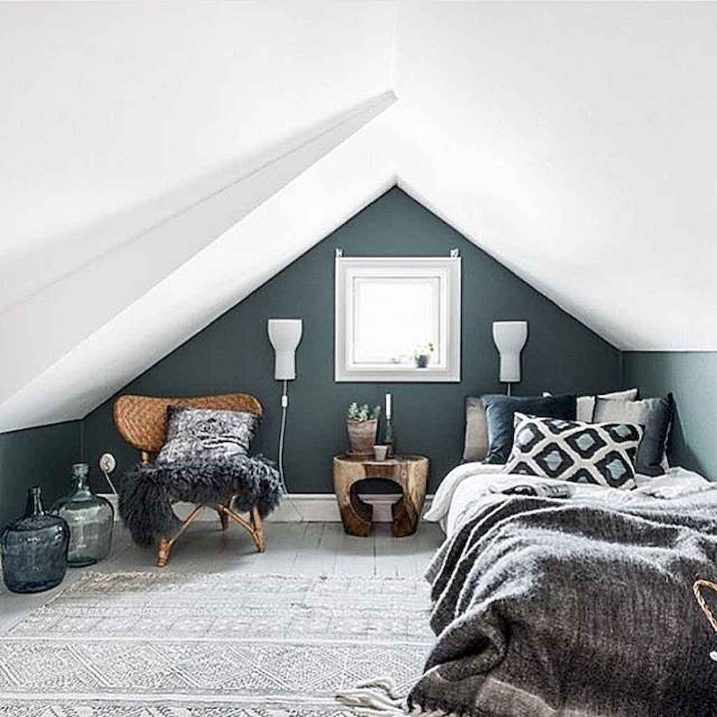 Cozy attic loft bedroom design & decor ideas (1)