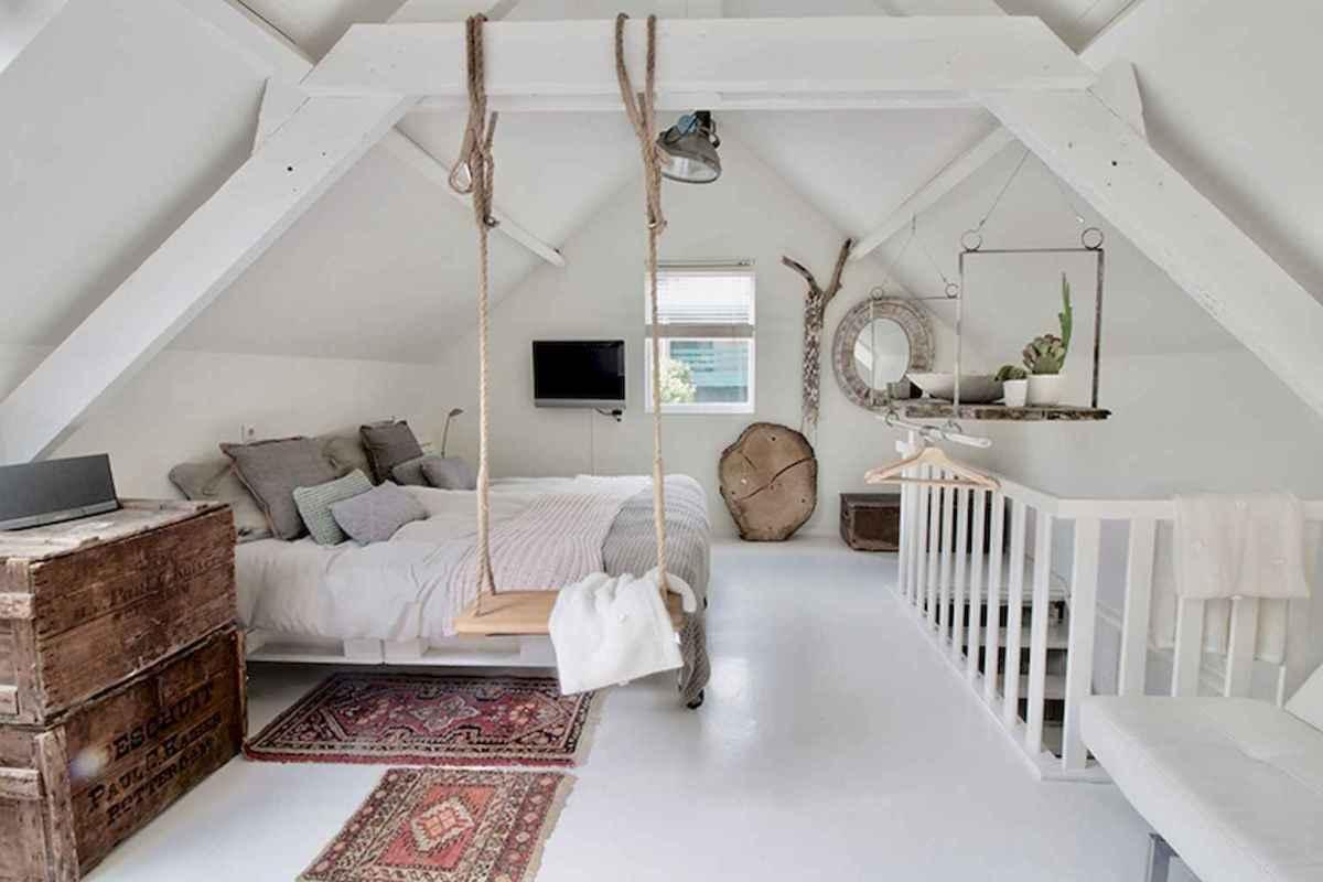 Cozy attic loft bedroom design & decor ideas (11)