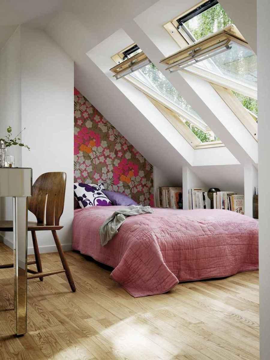 Cozy attic loft bedroom design & decor ideas (24)