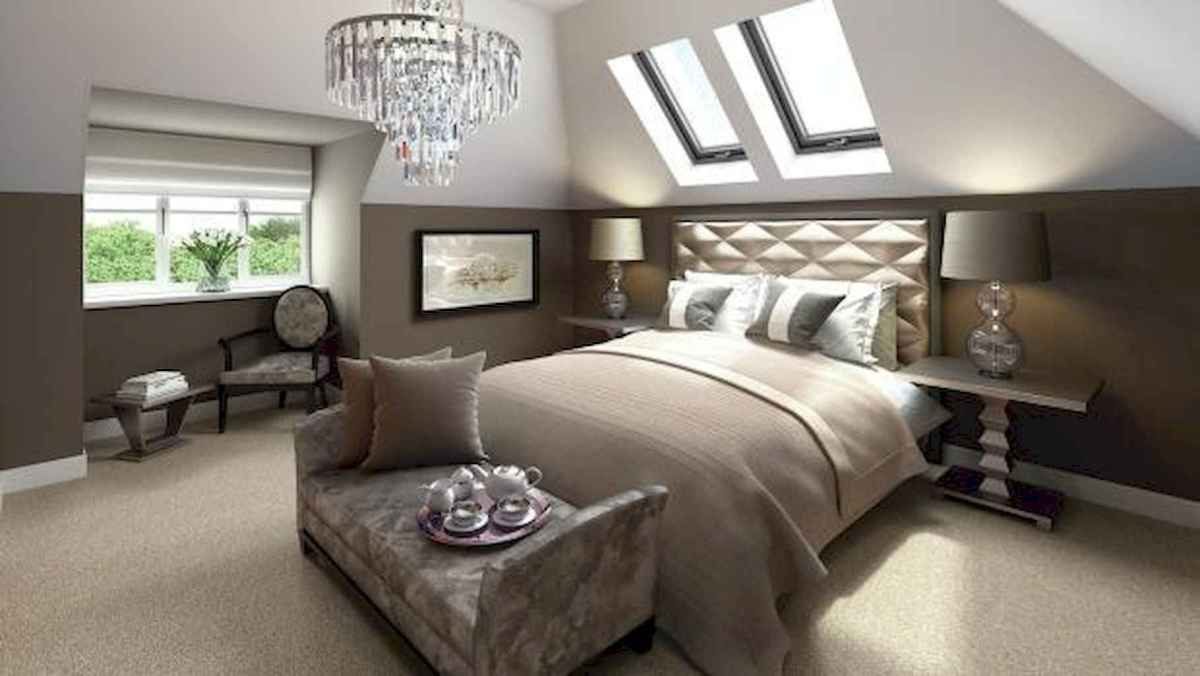 Cozy attic loft bedroom design & decor ideas (35)