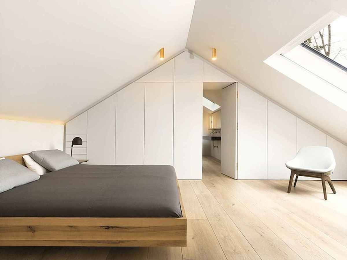 Cozy attic loft bedroom design & decor ideas (38)