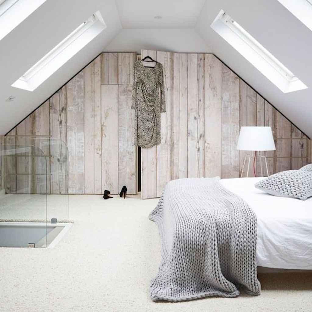 Cozy attic loft bedroom design & decor ideas (9)