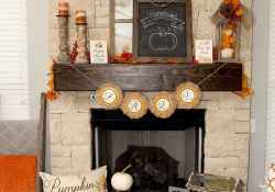 Diy farmhouse fall decorating ideas (38)