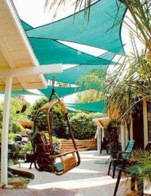 Diy shade canopy ideas for patio & backyard decoration (18)