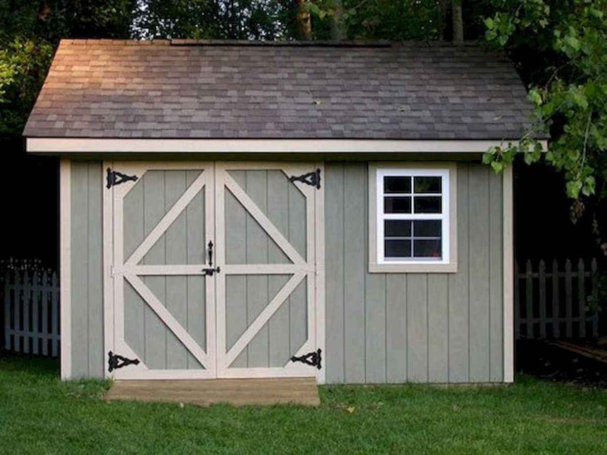 Incredible backyard storage shed makeover design ideas (12)