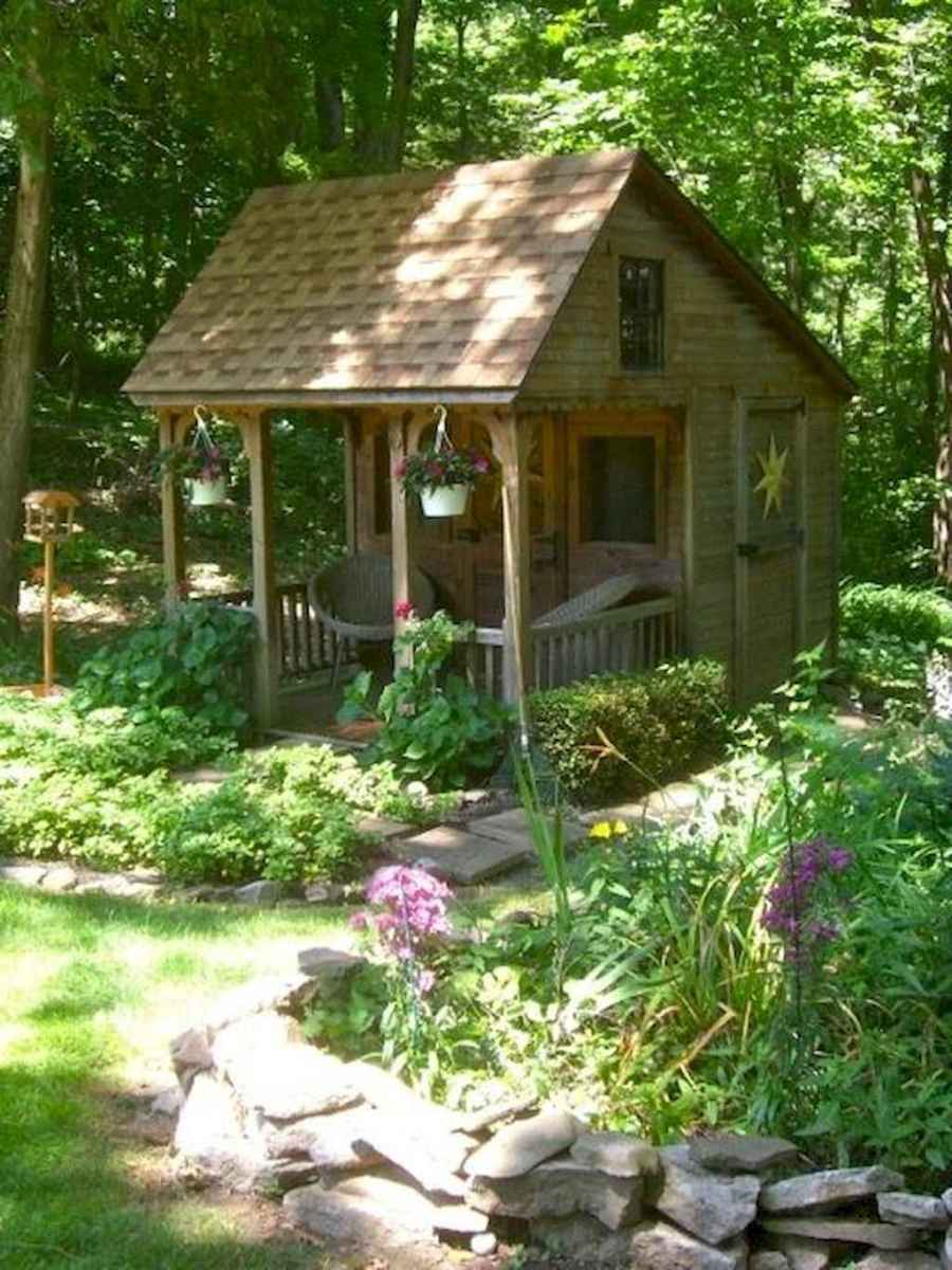 Incredible backyard storage shed makeover design ideas (18)