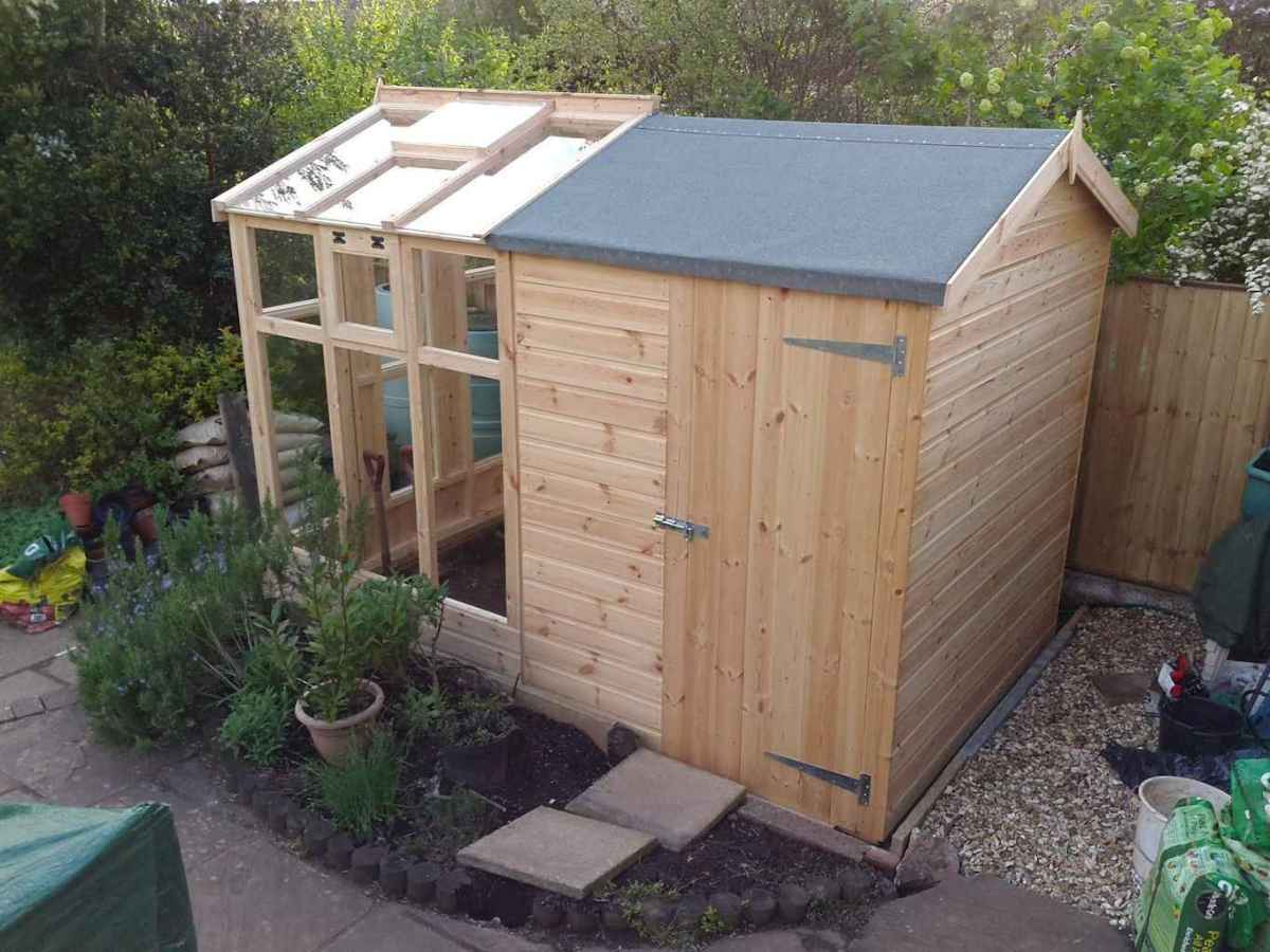 Incredible backyard storage shed makeover design ideas (19)