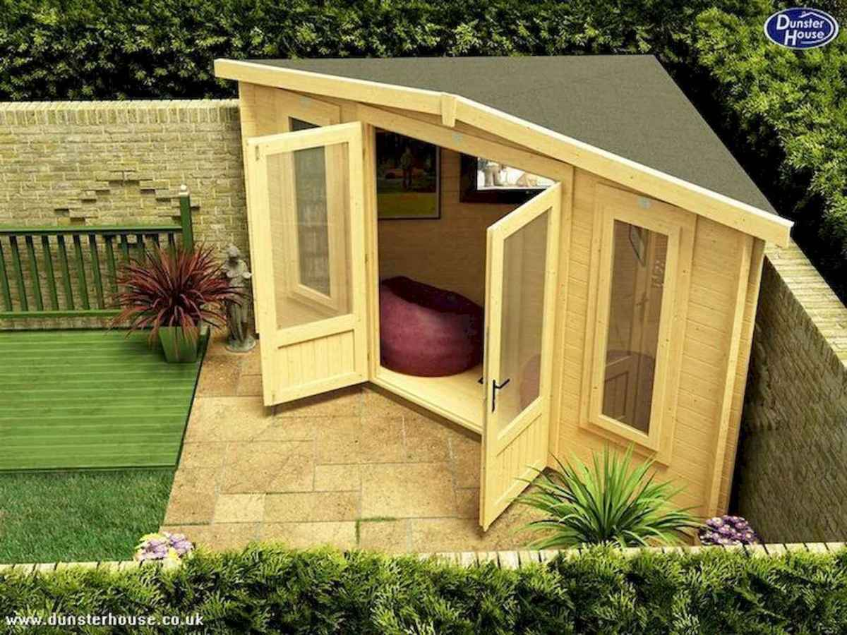 Incredible backyard storage shed makeover design ideas (21)