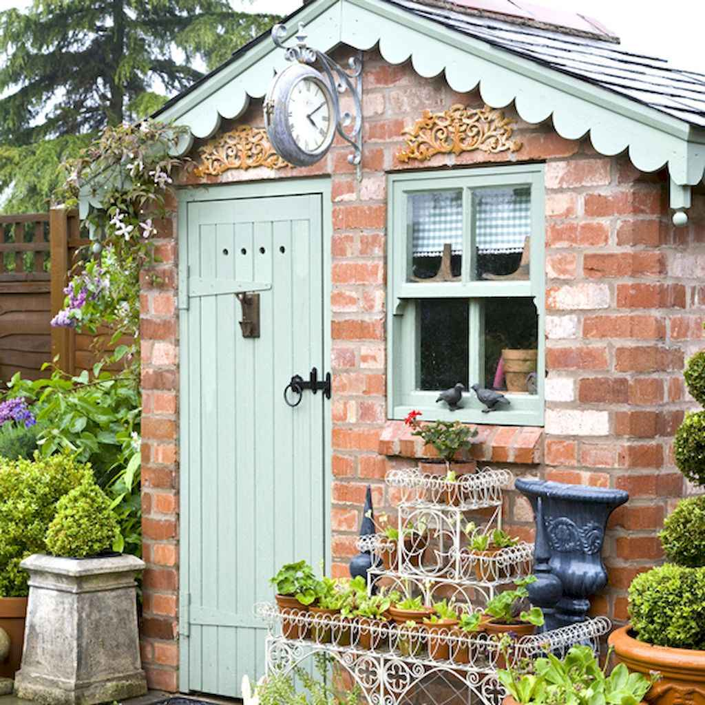 Incredible backyard storage shed makeover design ideas (31)