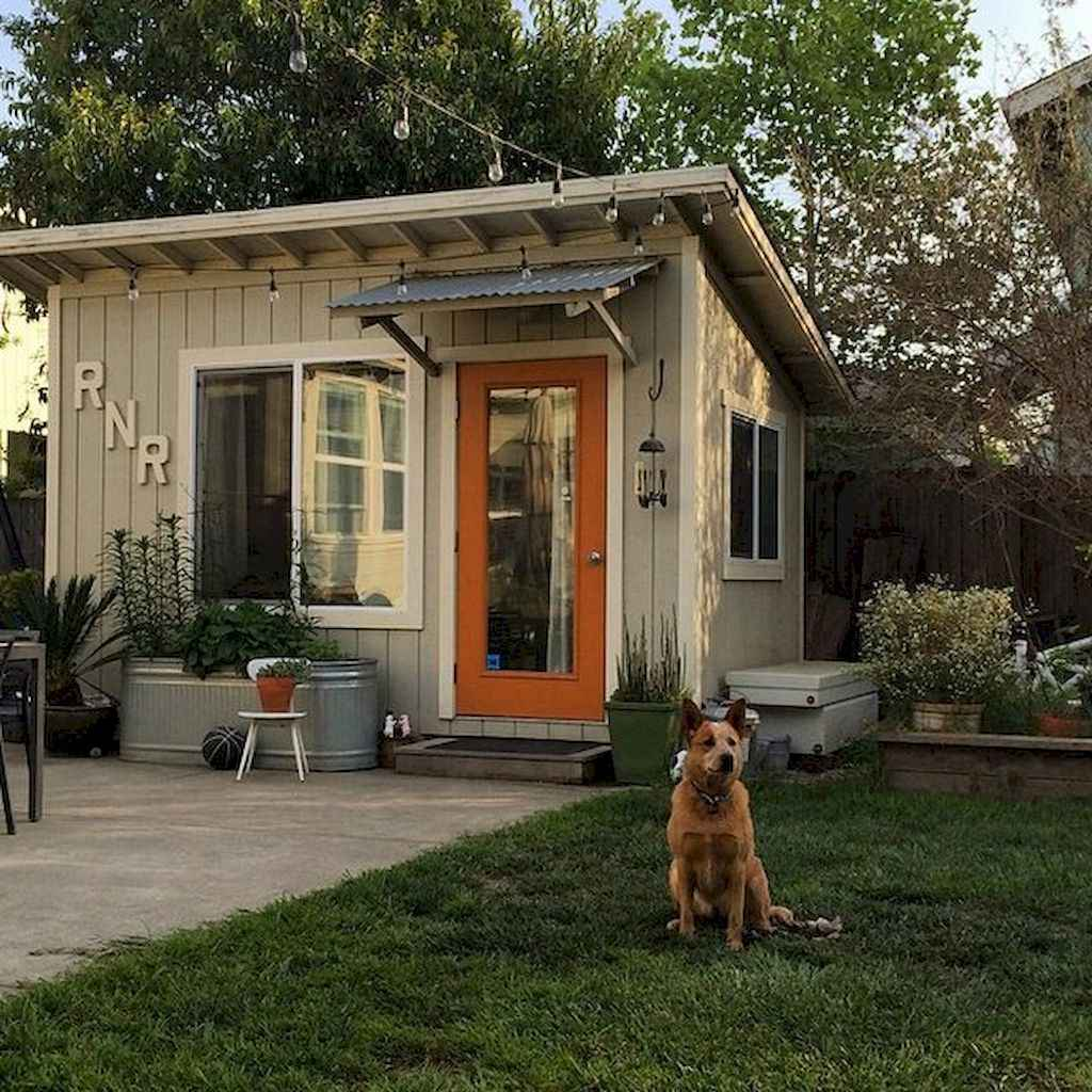 Incredible backyard storage shed makeover design ideas (32)