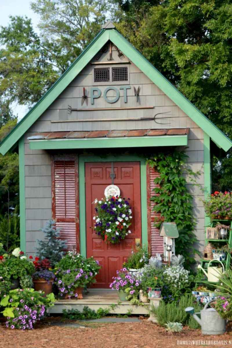 Incredible backyard storage shed makeover design ideas (45)