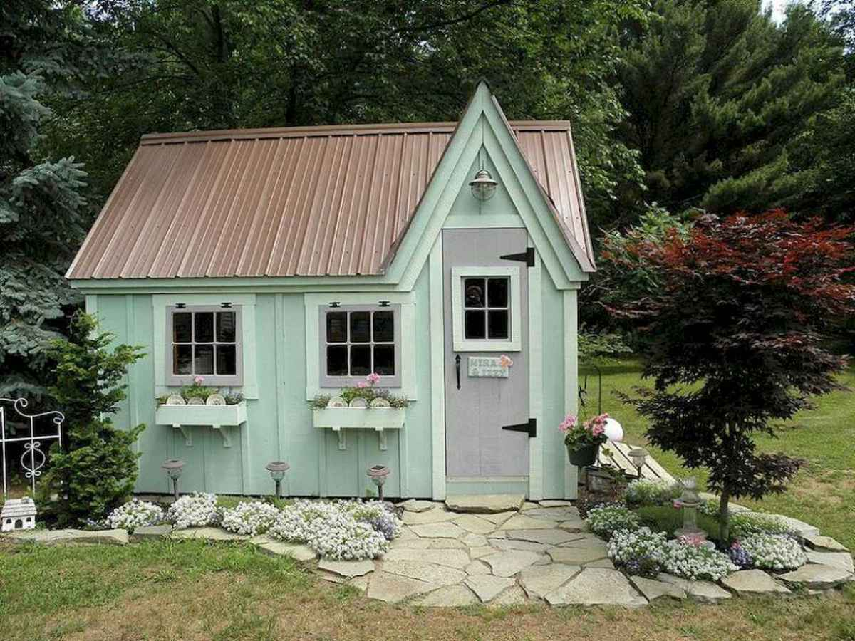 Incredible backyard storage shed makeover design ideas (52)