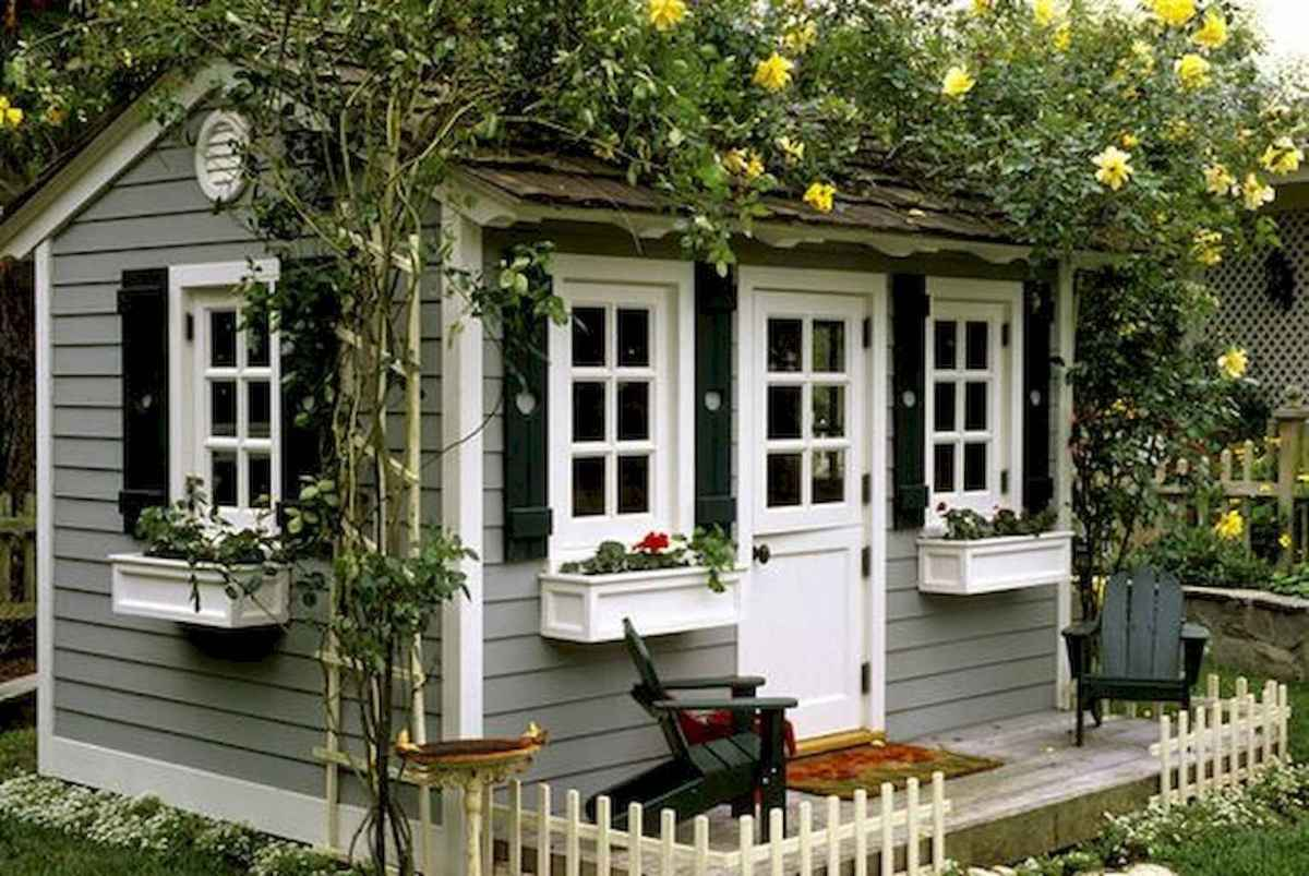 Incredible backyard storage shed makeover design ideas (66)