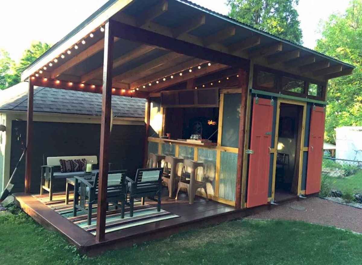 Incredible backyard storage shed makeover design ideas (72)