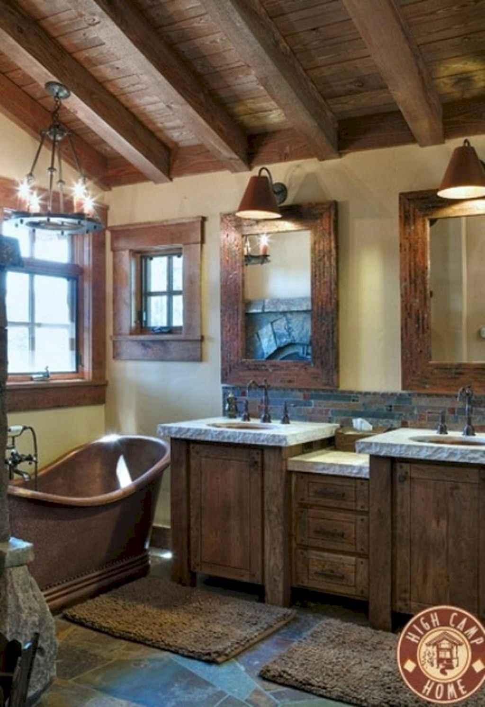 Inspiring rustic bathroom decor ideas (38)