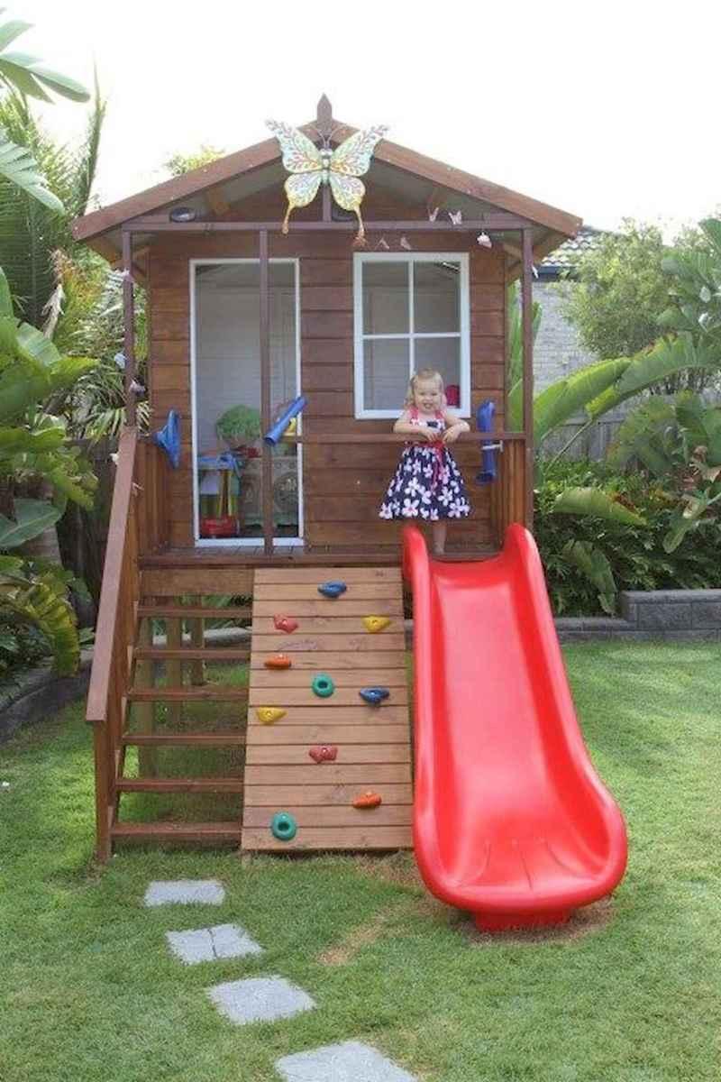 Magically sweet backyard playhouse ideas for kids garden (12)