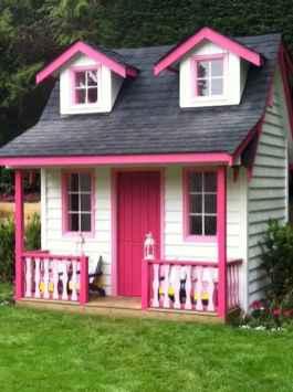 Magically sweet backyard playhouse ideas for kids garden (15)