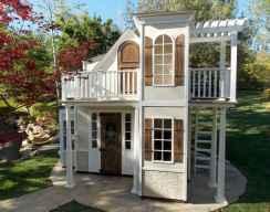 Magically sweet backyard playhouse ideas for kids garden (27)