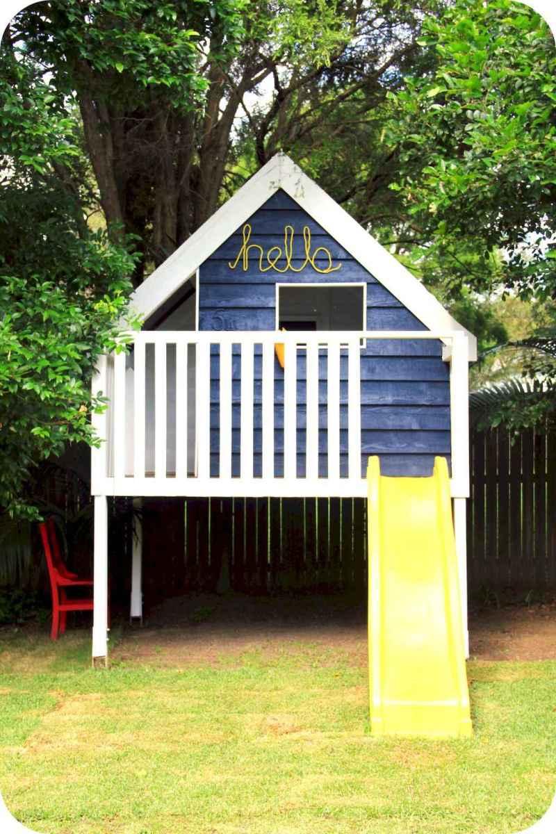 Magically sweet backyard playhouse ideas for kids garden (3)