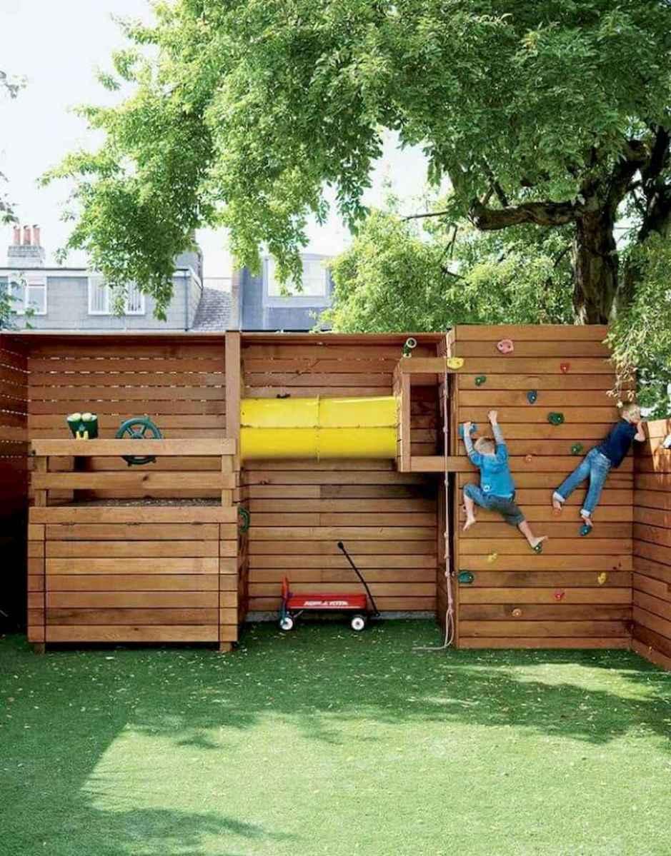 Magically sweet backyard playhouse ideas for kids garden (31)