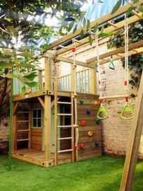 Magically sweet backyard playhouse ideas for kids garden (34)