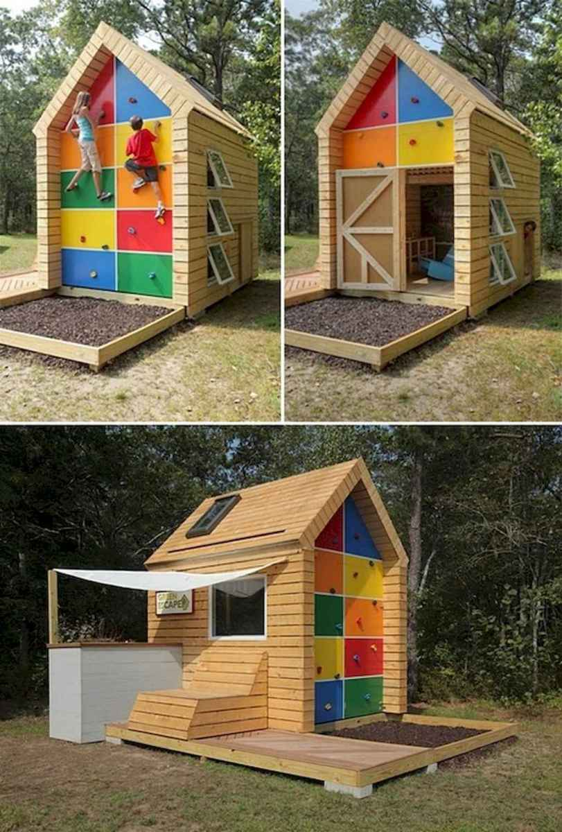 Magically sweet backyard playhouse ideas for kids garden (44)