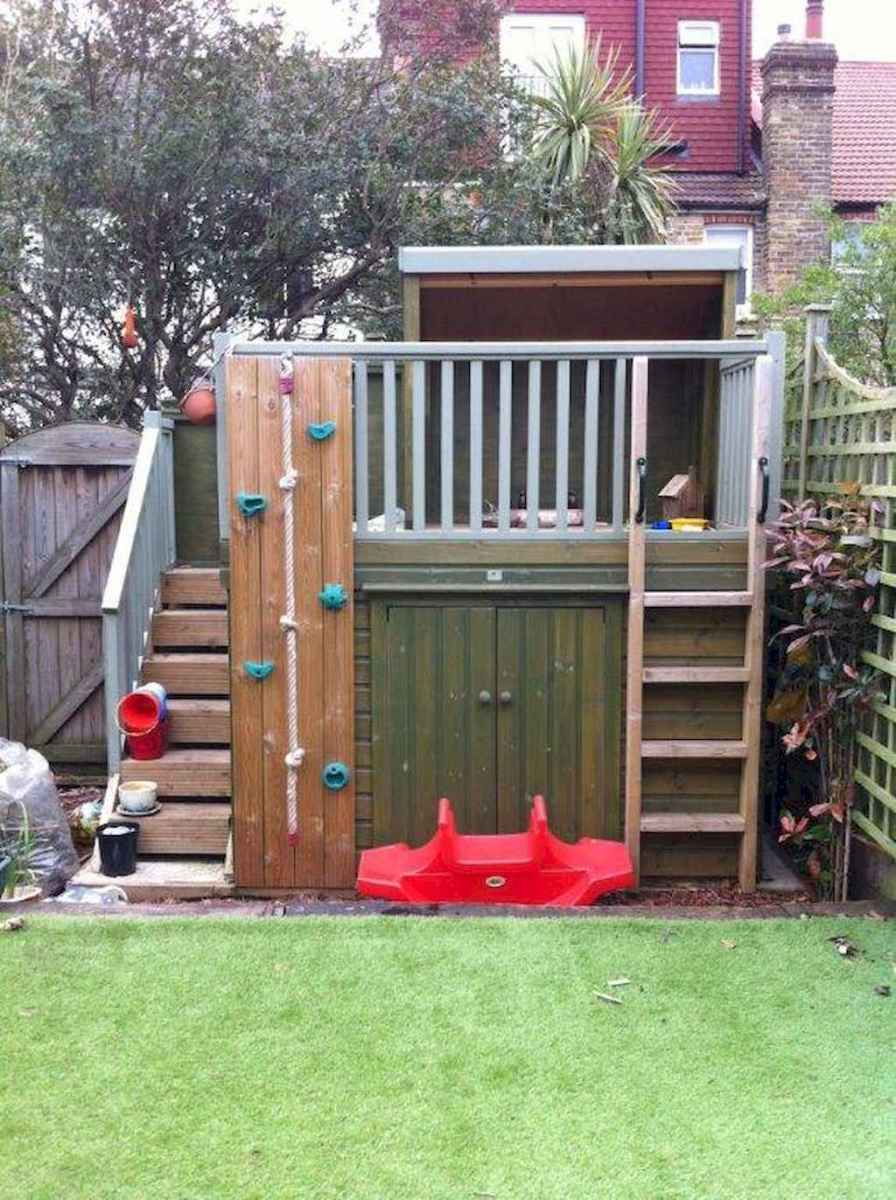 Magically sweet backyard playhouse ideas for kids garden (7)