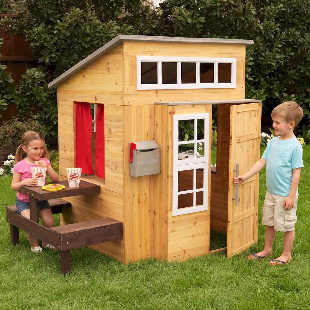 Magically sweet backyard playhouse ideas for kids garden (8)