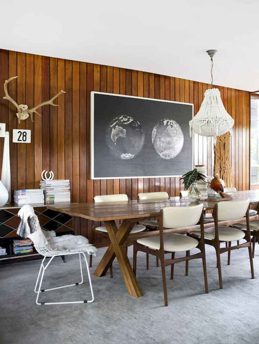 Modern mid century dining room table ideas (40)