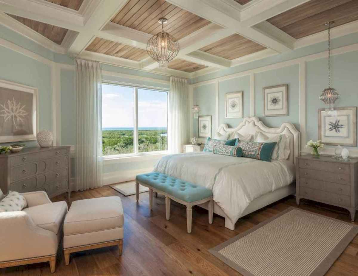 Perfect coastal beach bedroom decoration ideas (5)