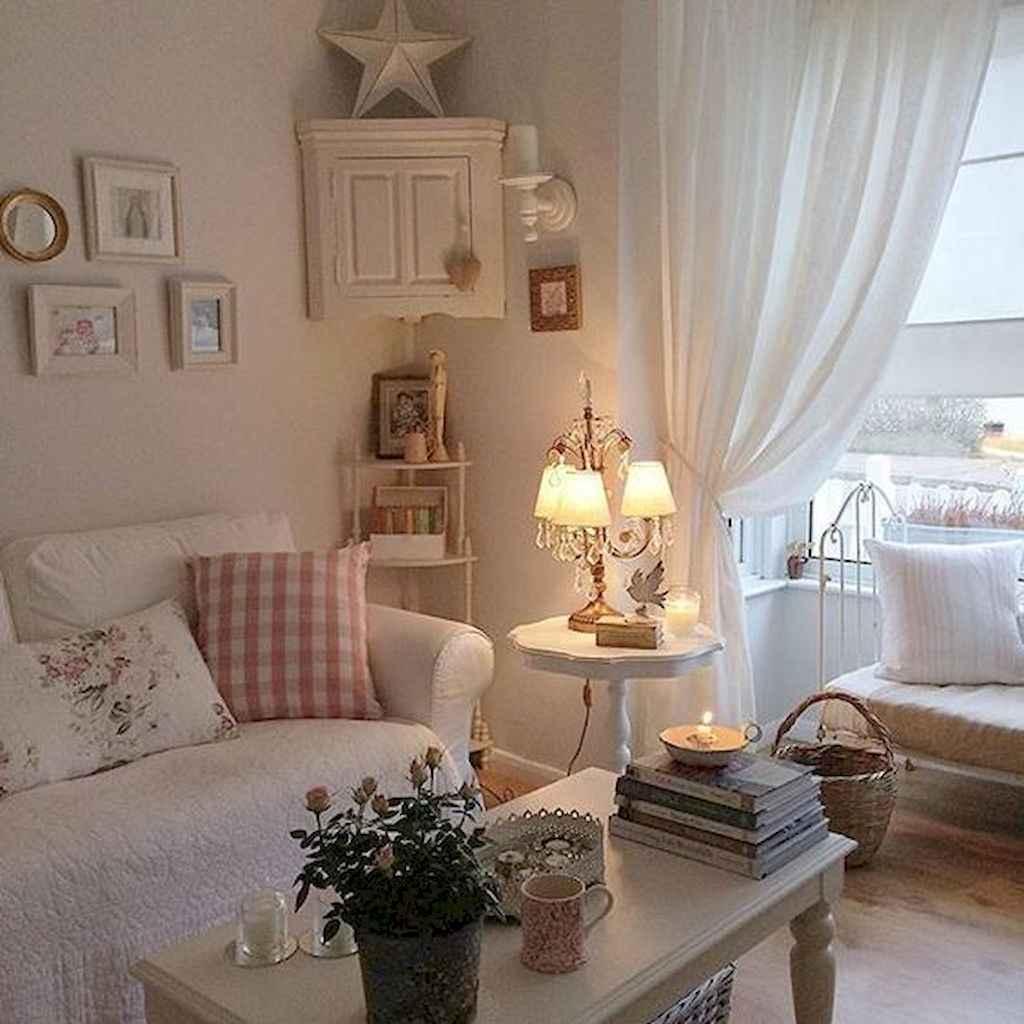 Romantic Shabby Chic Living Room Decoration Ideas 14