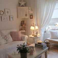 Romantic shabby chic living room decoration ideas (14)