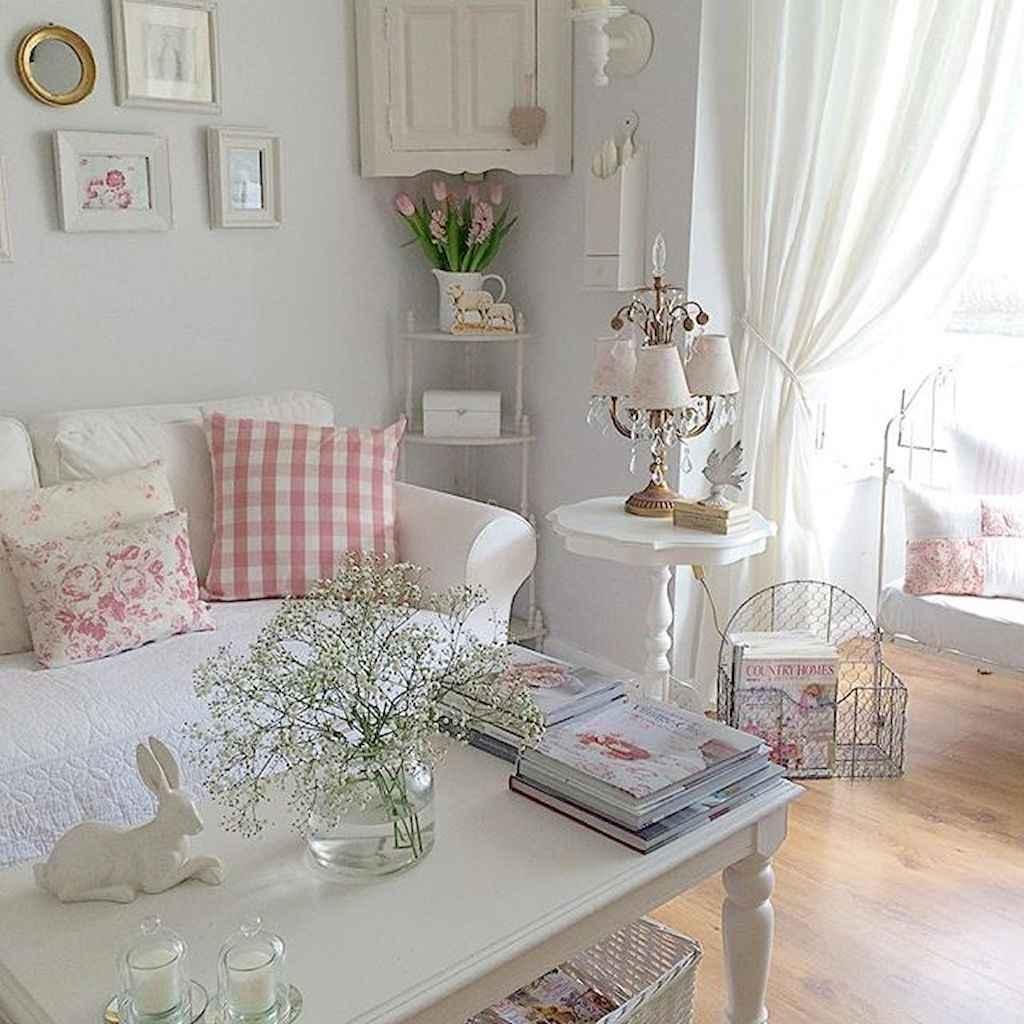 Romantic shabby chic living room decoration ideas (40)