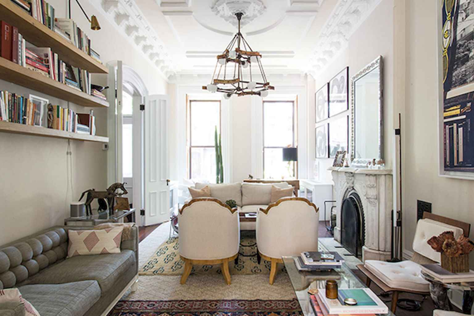 Simple clean vintage living room decorating ideas (40)