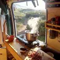 Best rv camper van interior decorating ideas (35)