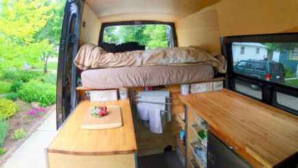 Best rv camper van interior decorating ideas (47)