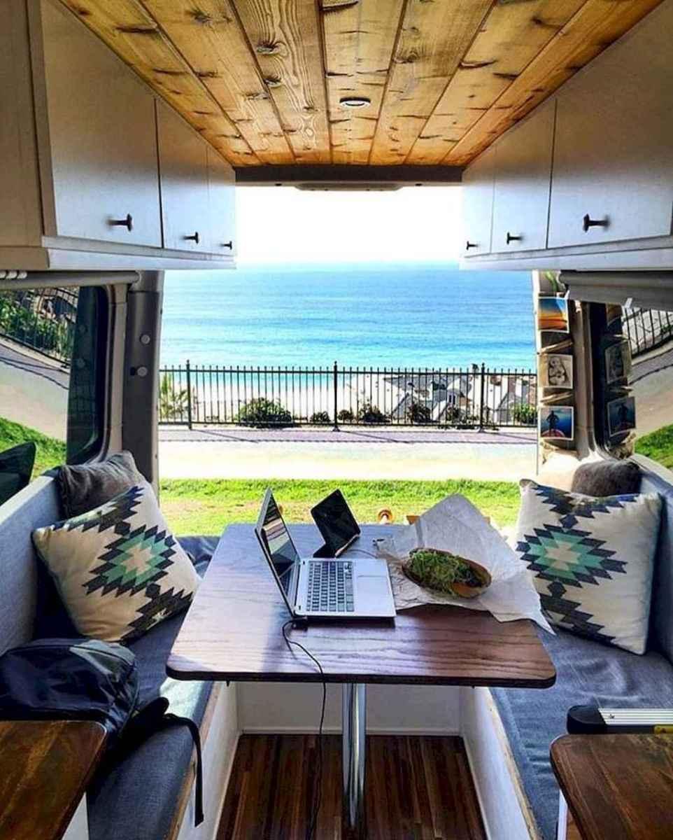 Best rv camper van interior decorating ideas (48)