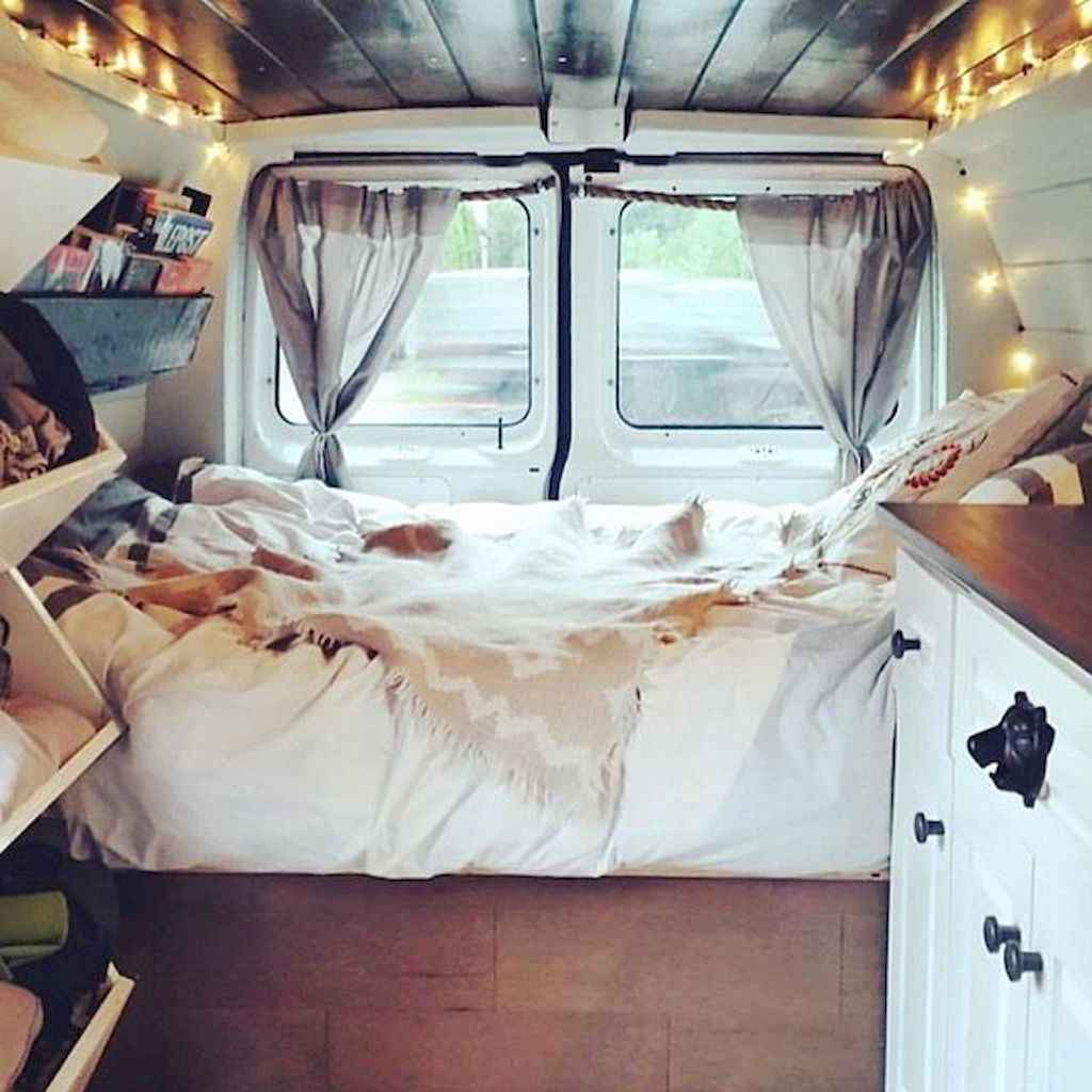 Best rv camper van interior decorating ideas (66)