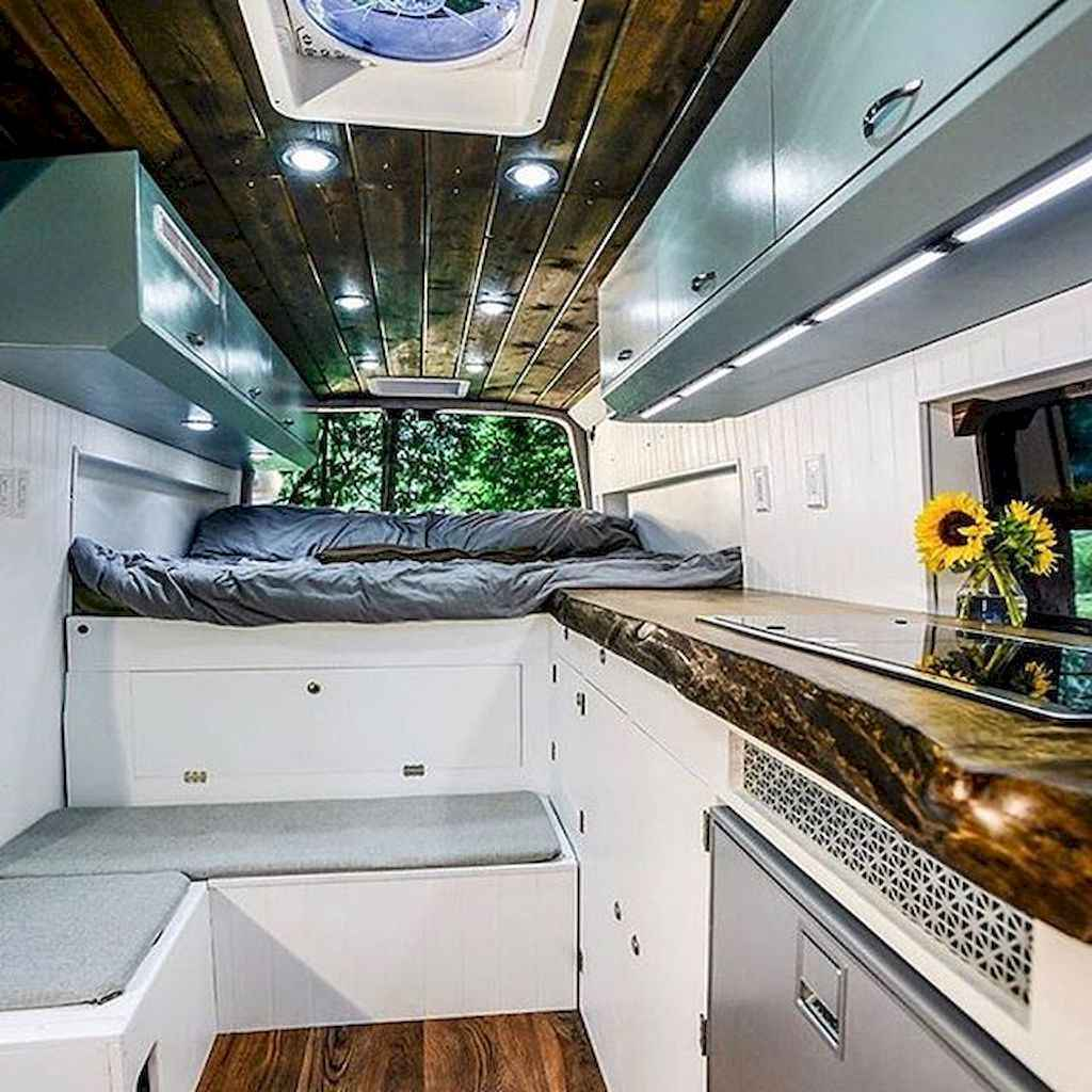 Best rv camper van interior decorating ideas (93)