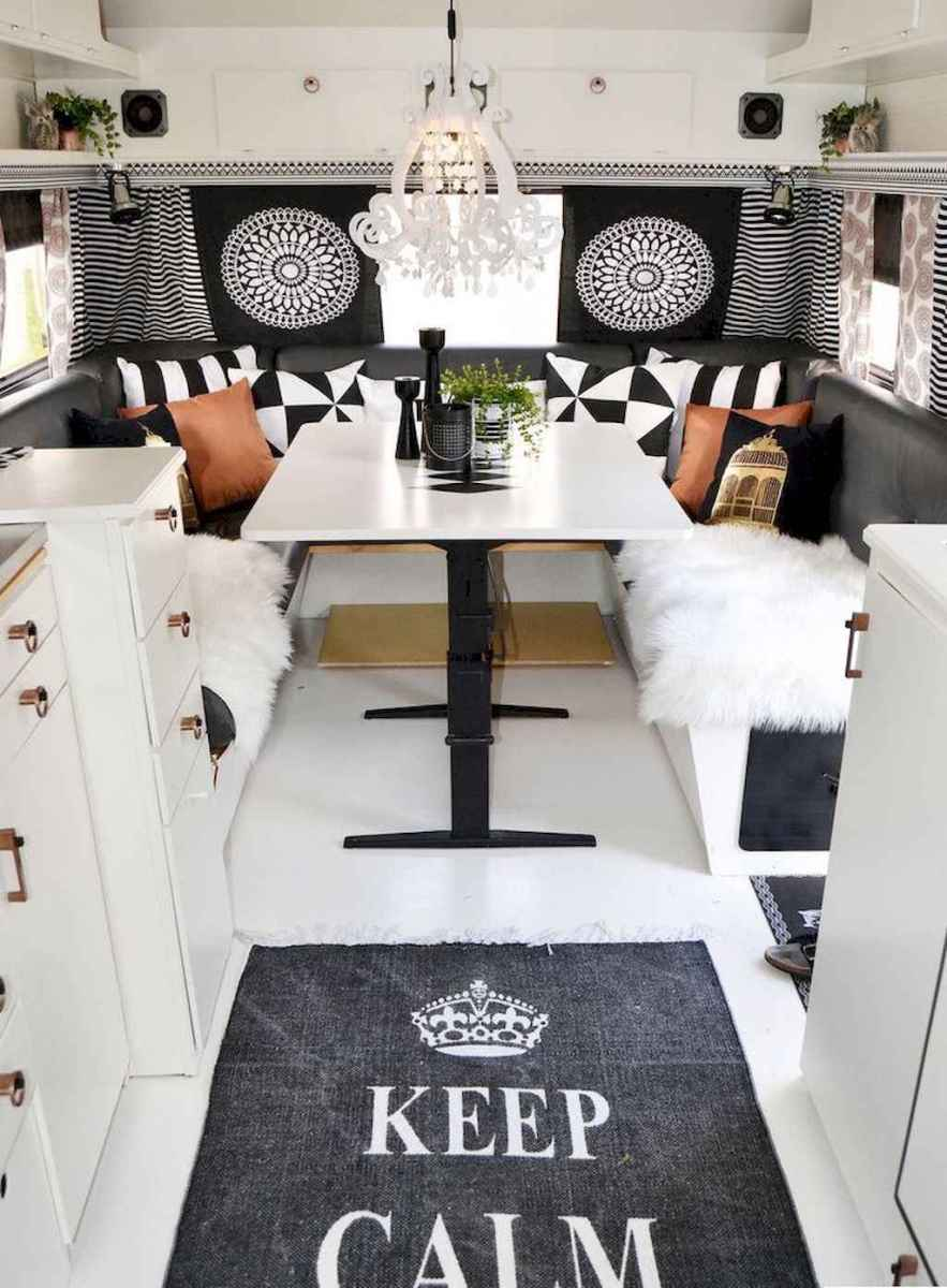 Best travel trailers remodel for rv living ideas (8)
