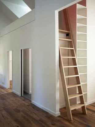 Creative loft stair with space saving ideas (59)