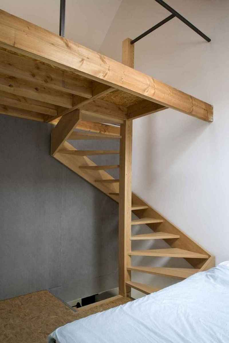 Creative loft stair with space saving ideas (61)