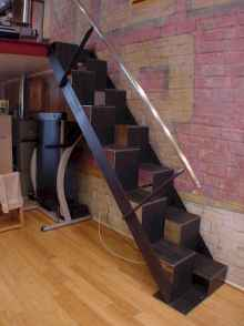 Creative loft stair with space saving ideas (66)