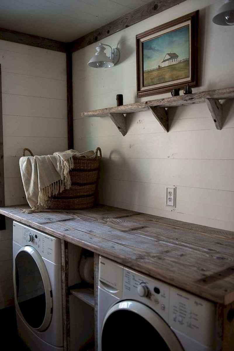 Farmhouse style laundry room makeover ideas (37)