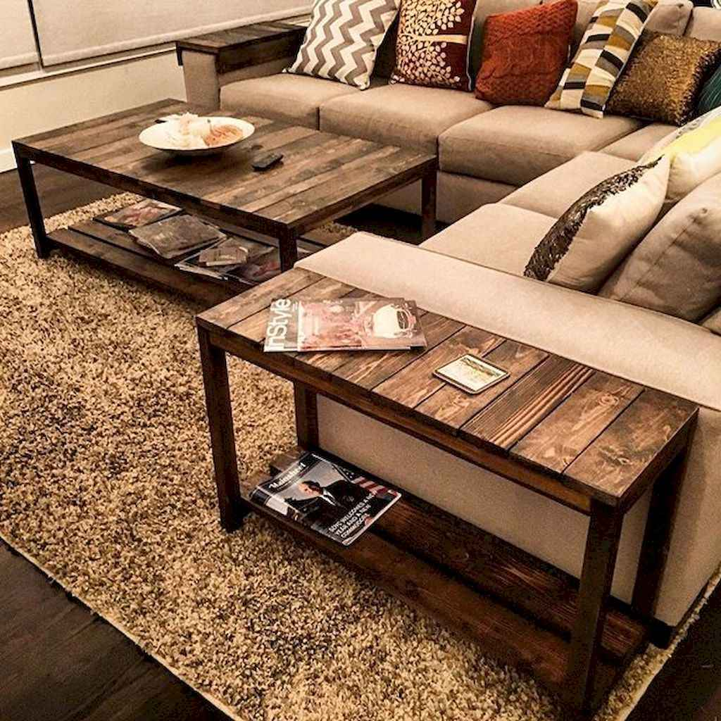 Rustic farmhouse coffee table ideas (58)
