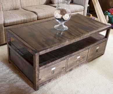 Rustic farmhouse coffee table ideas (66)