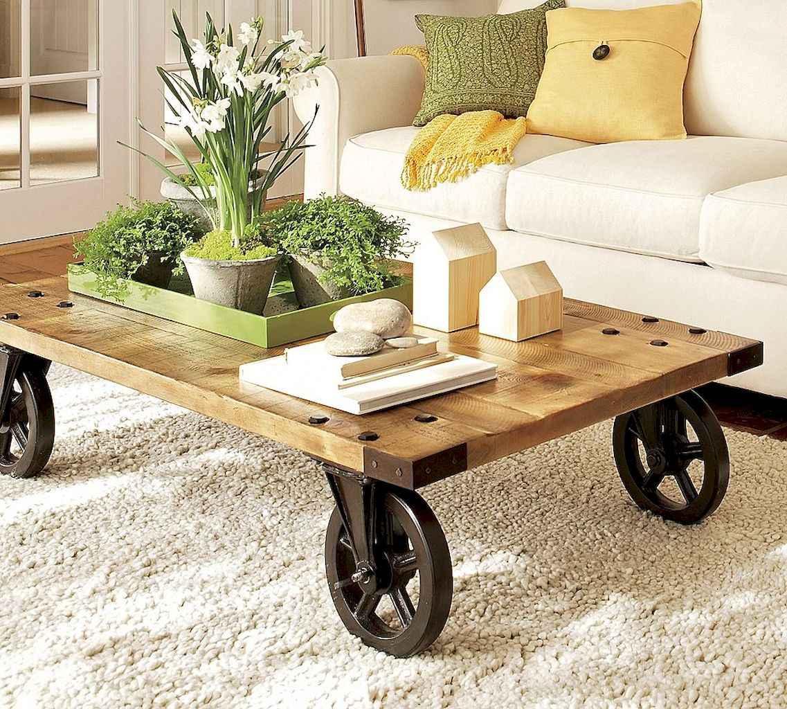 Rustic farmhouse coffee table ideas (9)