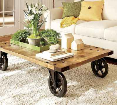 Rustic farmhouse coffee table ideas (9)