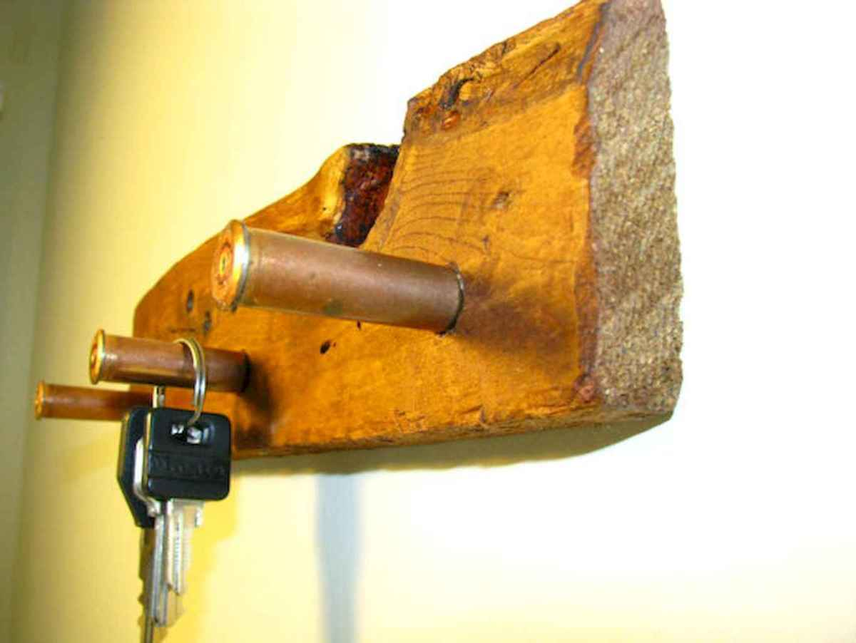 Rustic key holder organized ideas (23)