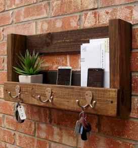 Rustic key holder organized ideas (24)